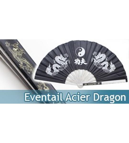 Eventail Acier Entrainement Black Dragon 2510-CBK