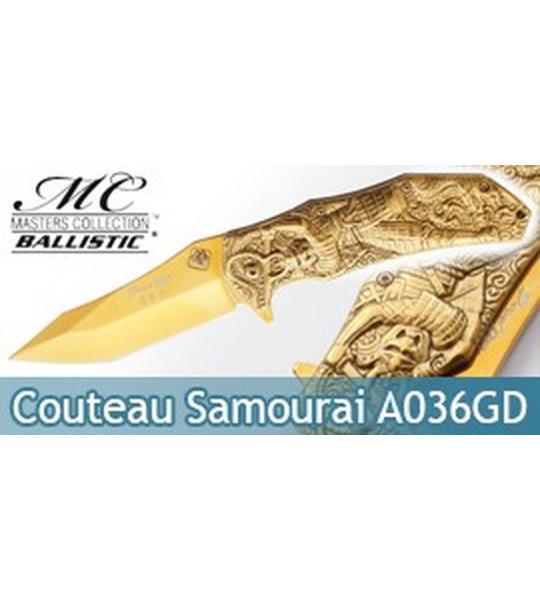 Couteau Pliant Gold Samourai MC-A036GD