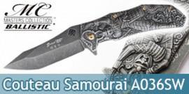 Couteau Pliant Grey Samourai Masters MC-A036SW
