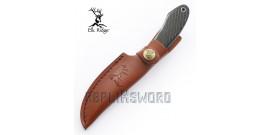 Couteau de Chasse Rustique Black Edition ER-561BK