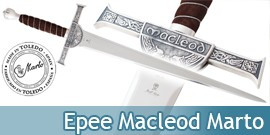 Epee Connor Macleod du Clan Macleod Marto Highlander