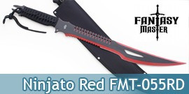 Ninjato Machette Shinobi Red Edition Epee FMT-055RD