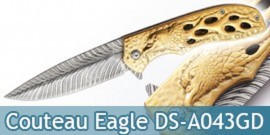 Couteau Pliant Gold Eagle Dark Side Blades DS-A043GD
