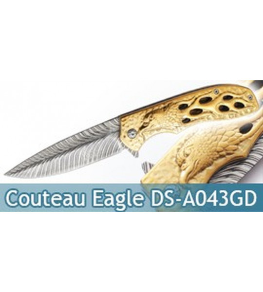 Couteau Pliant Gold Eagle Dark Side Blades DS-A043GD