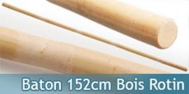 Baton Entrainement 152cm Bois Rotin 700grs BO Droit
