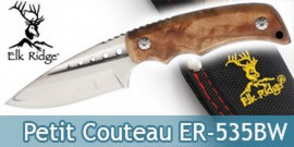 Petit Couteau de Chasse Elk Ridge Lame Fixe ER-535BW