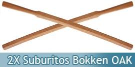 2X Suburitos Bokken Epee en Bois OAK Haut de Gamme