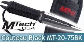 Couteau Black MtechDague MT-20-75BK