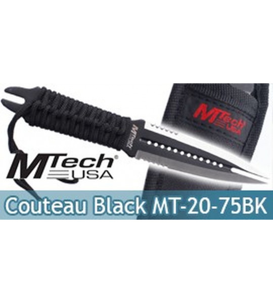 Couteau Black MtechDague MT-20-75BK