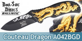 Couteau Pliant Gold Black Dragon DS-A042BGD