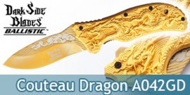 Couteau Pliant Gold Dragon DS-A042GD