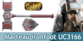 Le Hobbit Marteau du Roi Nain Dain Ironfoot UC3166