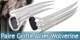 Paire de Griffe en Acier Wolverine X Men Logan X-Men