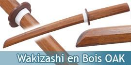 Wakizashi Bokken Epee en Bois OAK Haut de Gamme 1803-N