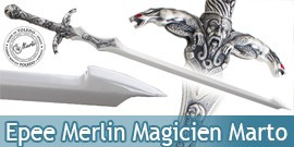 Epee Merlin Magicien Marto Legende de la Table Ronde