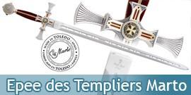 Epee des Templiers Marto Lame Damas Chevalier Templier