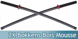 2X Bokkens en Mousse Epee Sabre Entrainement E411X2