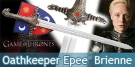 Game of Thrones Oathkeeper Epee  Brienne de Torth