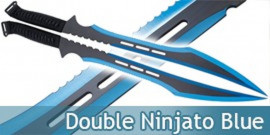 Double Ninjato Survivor Epee Blue Edition Sabre