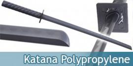 Katana en Polypropylene Epee Sabre Noir ABS Entrainement