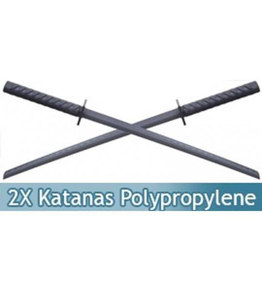 2X Katanas en Polypropylene Epee Sabre ABS