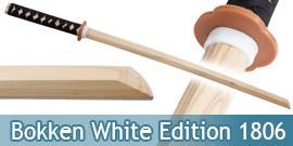 Bokken Epee en Bois Sabre Entrainement White Edition