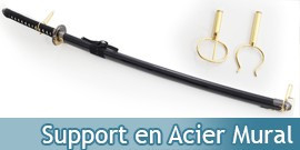 Support en Acier Mural Epee Sabre Katana Présentoir