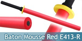 Baton Bokken Mousse Red Edition E413-R