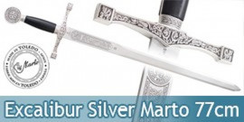 Epee Excalibur a une Main Silver Edition Marto 77cm