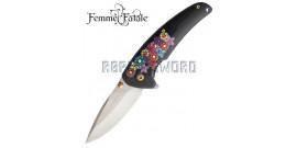 Couteau de Poche Femme Fatale Flowers FF-A013BK