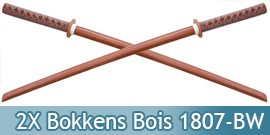 2X Bokkens Epee en Bois Sabre 1807-BWX2