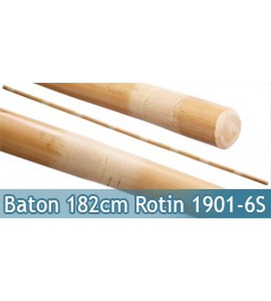 Baton Entrainement 182cm Bois Rotin 710grs BO Droit 1901-6S