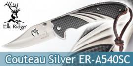 Couteau Pliant Silver Chasseur Elk Ridge ER-A540SC