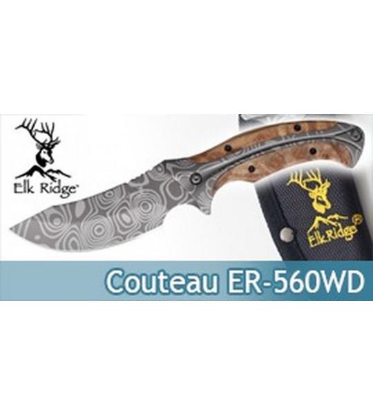 Couteau de Chasseur Poignard Elk Ridge ER-560WD