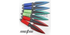 Set de 6 Couteau de Lancer Kunais Perfect Point PP-080-6RGB