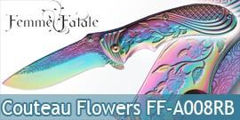 Couteau Pliant Flowers Femme Fatale FF-A008RB