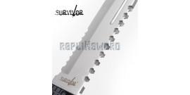 Couteau de Chasse Survivor Poignard HK-796SL Silver Edition
