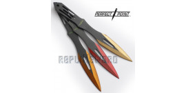 Set de 3 Couteau de Lancer Kunais Perfect Point