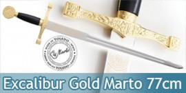 Epee Excalibur a une Main Gold Edition Marto 77cm
