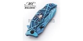 Couteau de Poche Spider Blue MC-A018BL Pliant