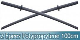 Set 2 Katanas Polypropylene Epee ABS 100cm