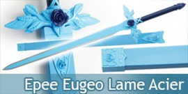 Sword art Online Epée Eugeo Lame Acier Blue Rose