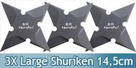 Set 3 Large Shuriken Honshu Etoile de Lancer UC3143X3