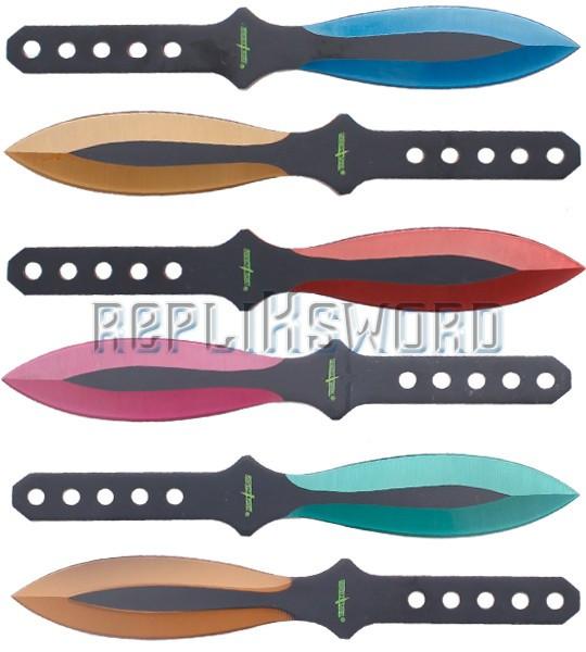 Set 6 Couteaux Lancer Kunais Perfect Point PP-114-6MC