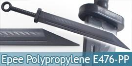 Epee Polypropylene Sabre Noire Entrainement E476-PP