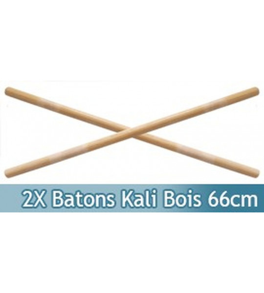Set 2 Batons en Kali Arts Martiaux Bois 66cm SE-607X2
