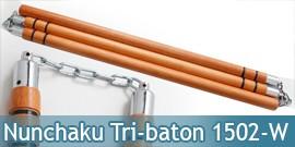 Nunchaku Tri-baton Tout en Bois 1502-W
