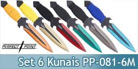 Set 6 Couteaux Lancer Kunais Perfect Point PP-081-6M