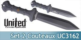 Set 2 Couteaux Gladius Combat Commander UC3162