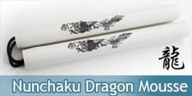 Nunchaku Dragon Mousse Blanc Entrainement Arts Martiaux